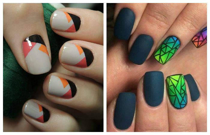 Геометрический дизайн ногтей ,фото