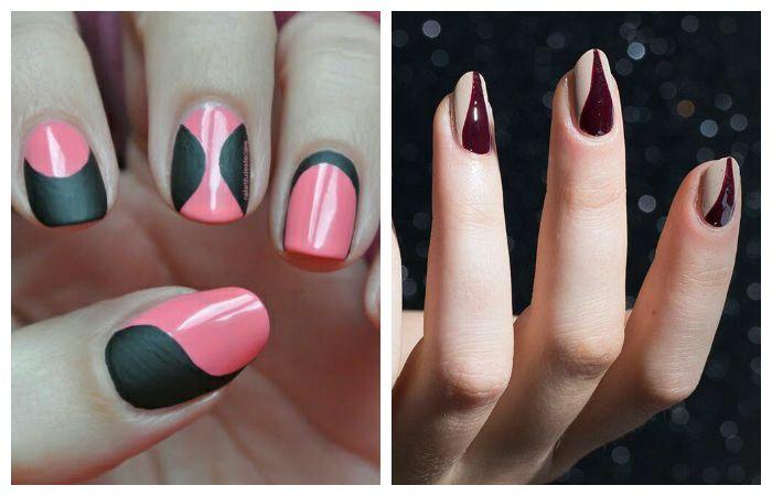 Новые формы дизайна коротких ногтей, фото