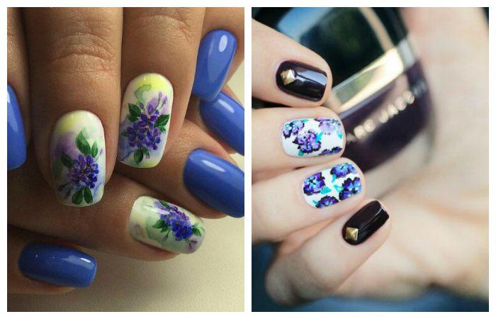 Цветочный дизайн ногтей, фото