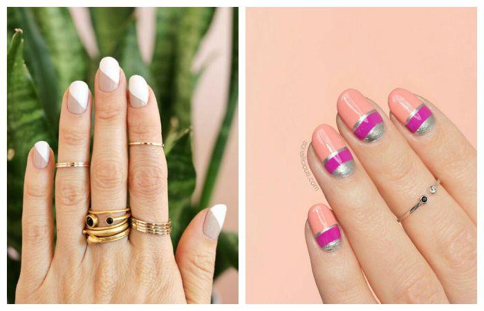 Простой дизайн на короткие ногтПростой дизайн на короткие ногти, фотои, фото