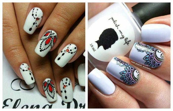 Восточные и этнические рисунки на короткие ногти, фото