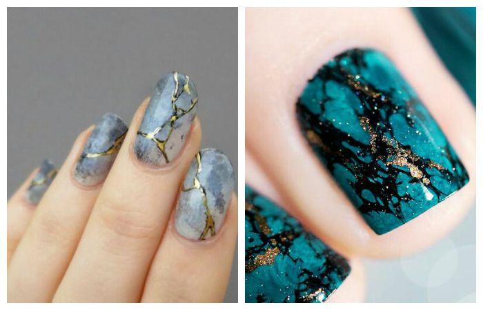Стоун - дизайн ногтей на короткие ногти, фото