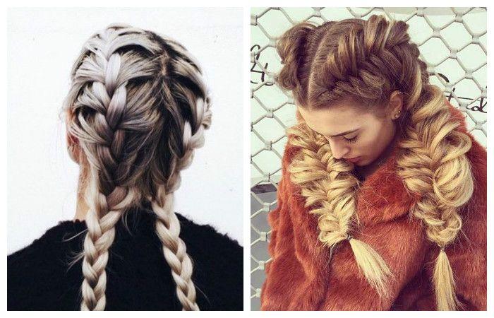 Прически на длинные волосы с двумя красивыми косами, фото