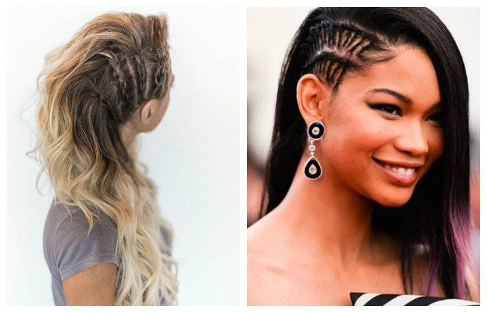 Красивые и легкие прически с косами у висков на длинные волосы, фото