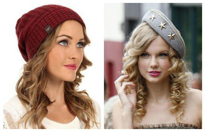 Легкие прически под шапку на средние волосы с кудрями и легкими волнами, фото