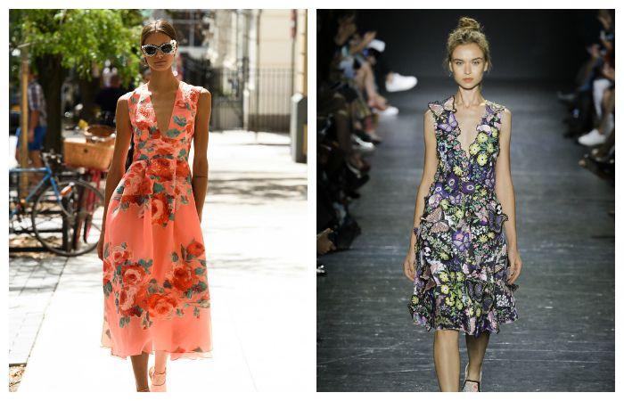 Тенденции весна - лето 2017: летние платья с яркими принтами