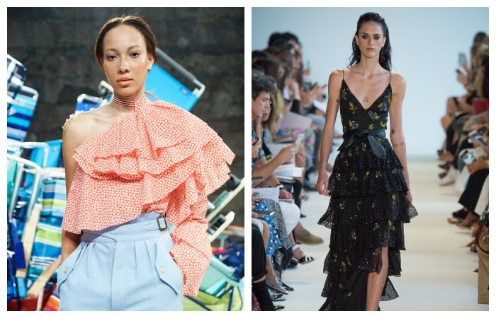 Тенденции весна - лето 2017: платья и топы с романтичными оборками