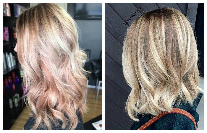 Окрашивание волос балаяж на светлые волосы, фото
