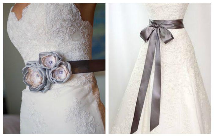 Свадебные платья с поясом, фото