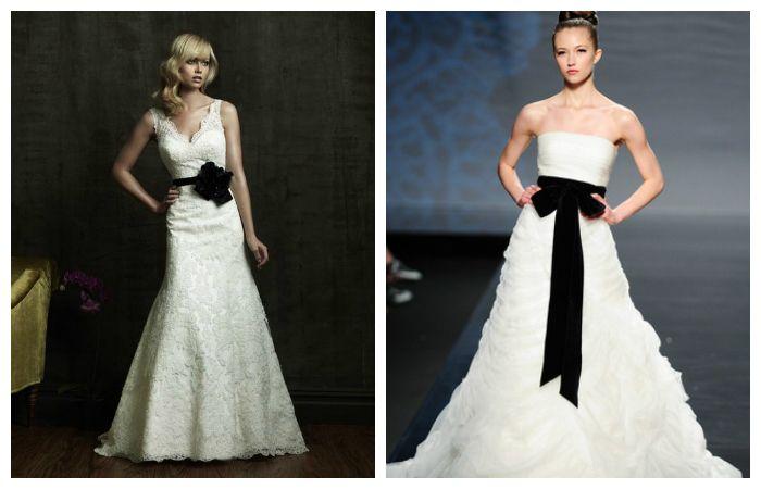 Свадебные платья с акцентом на талии, фото