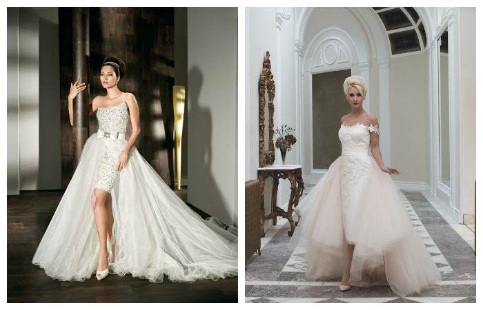 Пышные свадебные платья со шлейфом, фото