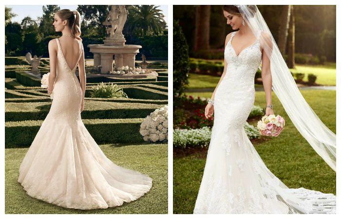 Оригинальные свадебные платья со шлейфом, фото