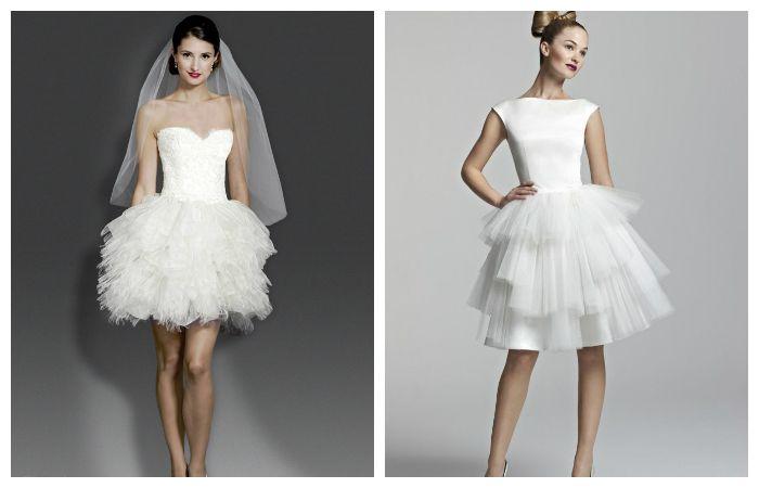 Короткие свадебные платья, фото