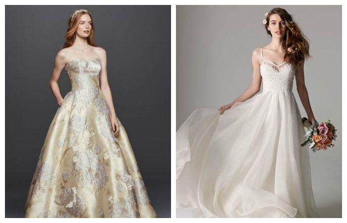 Свадебные платья из органзы и парчи, фото