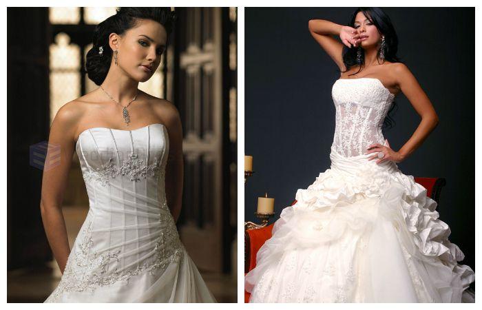 Свадебные платья с корсетом, фото
