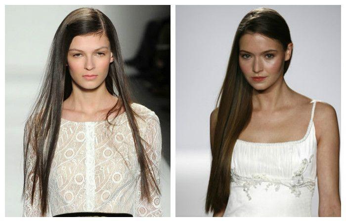 Повседневные прически с длинными прямыми волосами, фото