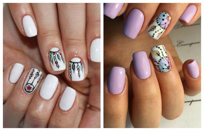 Рисунки на ногтях в стиле бохо