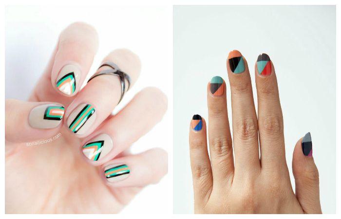 Стильная геометрия: фото модных рисунков на ногтях