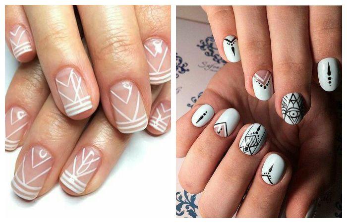 Модные рисунки на ногтях, фото