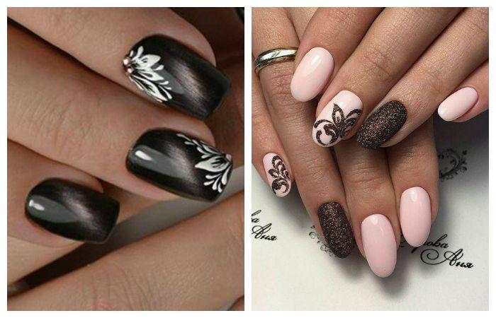Цветочные рисунки на ногтях гель-краской или гель-лаком