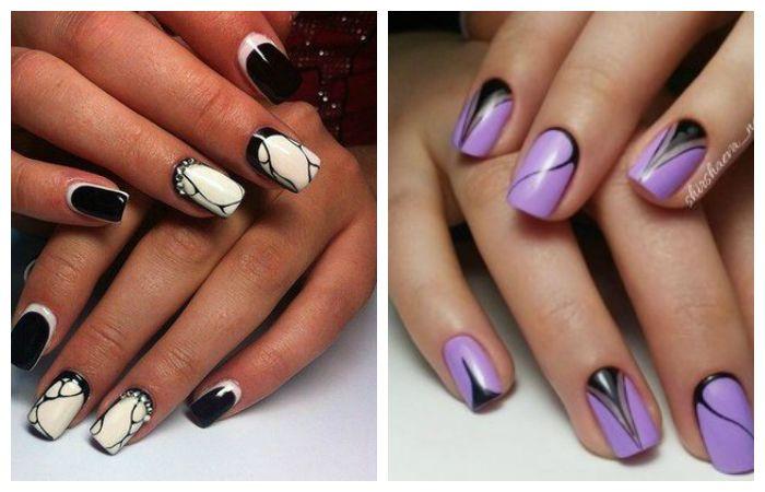 Рисунки на короткие ногти, фото