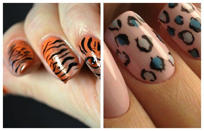 Рисунки на ногтях с звериным принтом, фото
