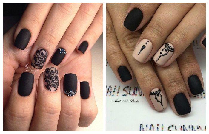 Примеры стильных рисунков на ногтях, фото