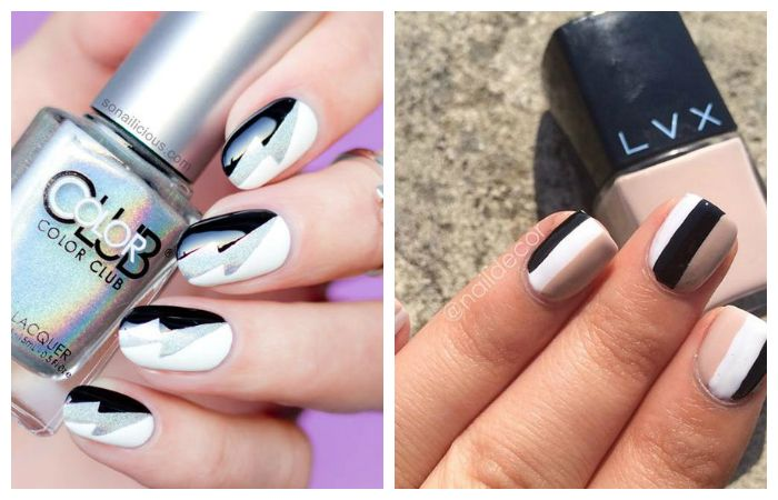 Простые рисунки на ногтях акриловыми красками