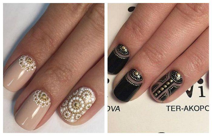 Рисунки на ногтях для начинающих: красивые рисунки из точек дотсом, фото примеры