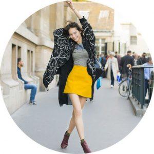 С чем носить желтые: пиджак, юбку, туфли