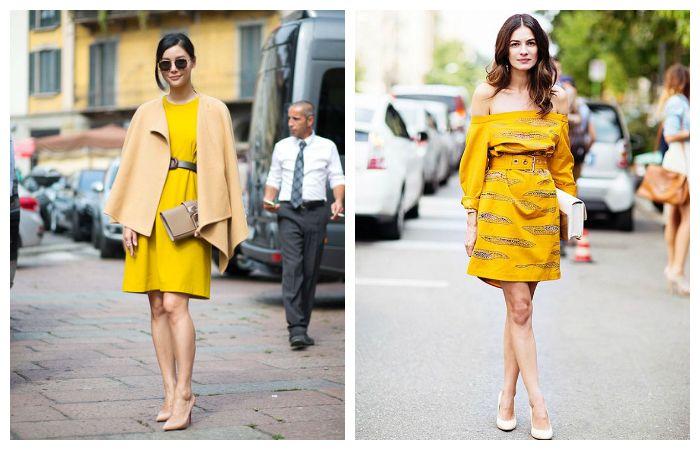 Желтое платье: с чем носить?