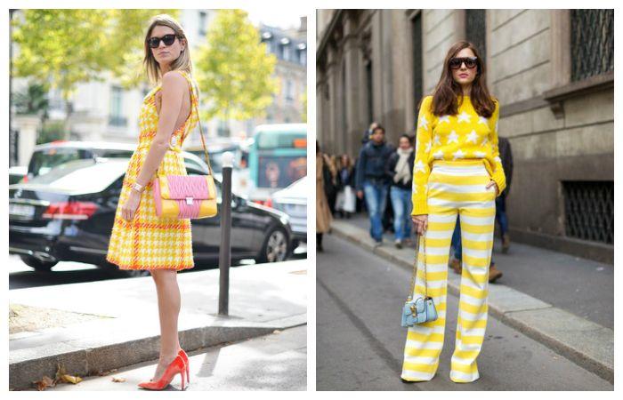 Модный желтый Look