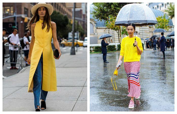 С чем еще можно носить желтую одежду?
