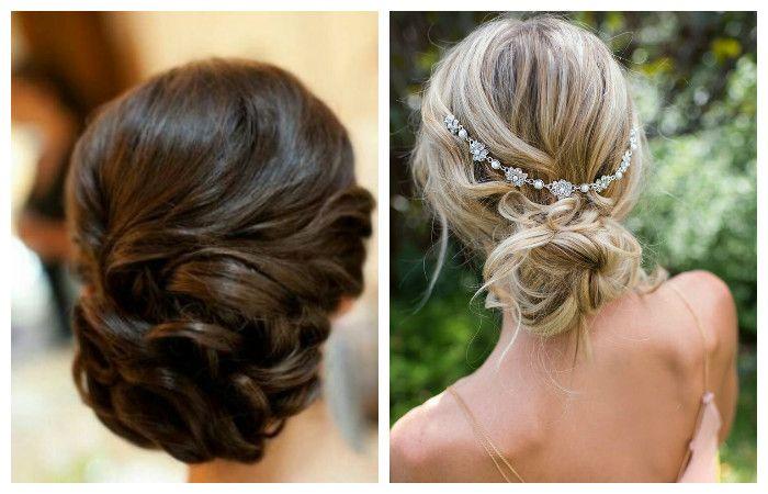 Свадебные прически с оригинальным плетением для волос средней длины, фото