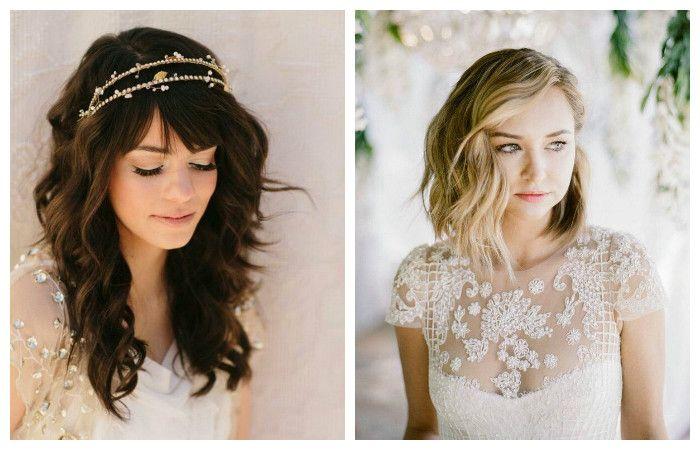 Свадебные прически с распущенными волосами, фото