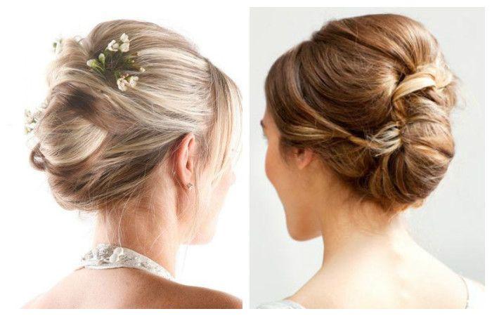 Свадебные прически с ракушкой на средние волосы, фото