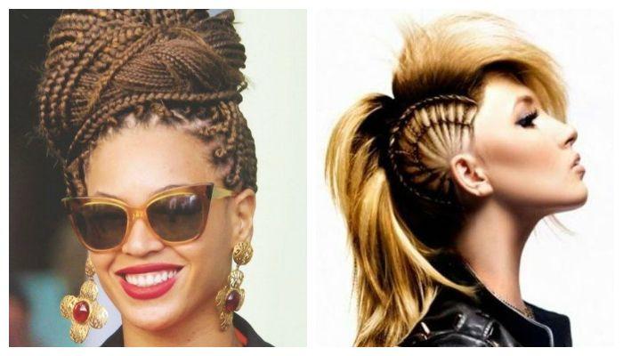 Вечерние прически в африканском стиле на средние волосы, фото