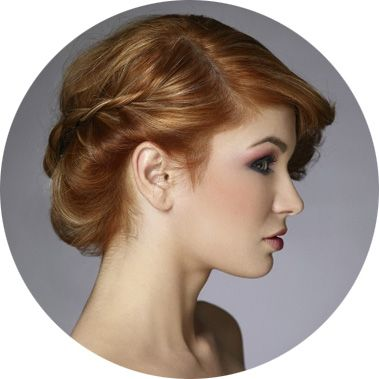 Вечерние прически на средние волосы, фото