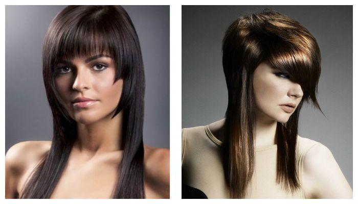 Стильная стрижка на длинные волосы