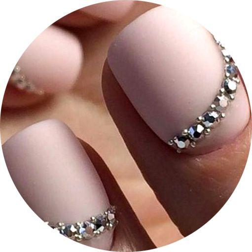 Дизайн ногтей со стразами, фото