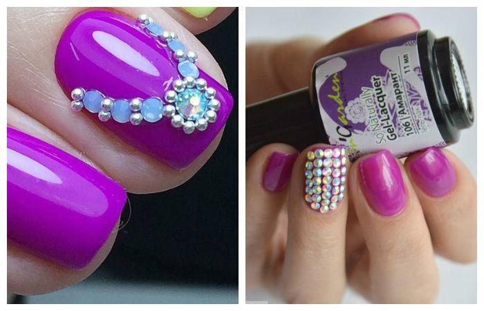 Фиолетовый дизайн со стразами