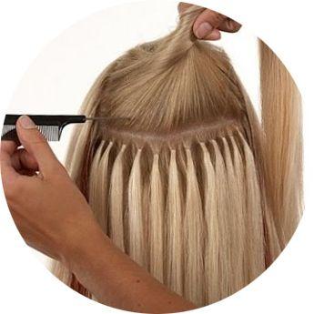 капсульное наращивание волос, фото