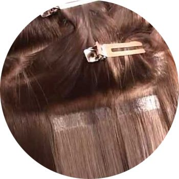 ленточное наращивание волос, фото