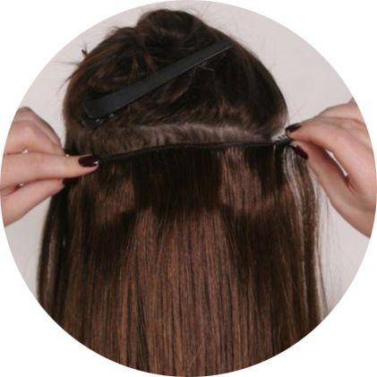 трессовое наращивание волос, фото