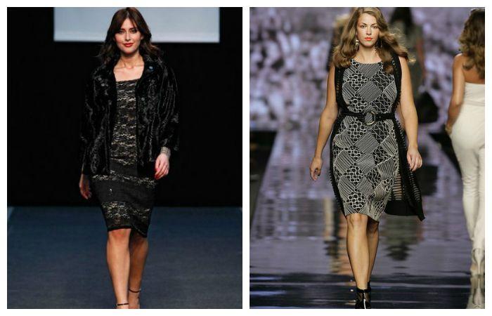 Платье-футляр из плотной ткани с широким поясом может визуально сделать стройнее практически любую фигуру
