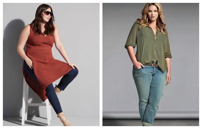 Узкие джинсы можно носить с платьем, удлиненной туникой или свободной рубашкой, фото