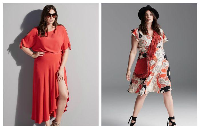 Модели платьев для полных девушек (удлиненное и А-силуэта), фото