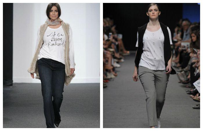 """Одежда для полных девушек должна иметь """"вертикальные"""" линии. Это может быть удлиненный пиджак или шарф, фото"""