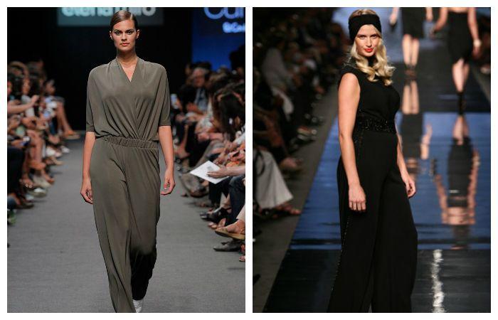 Варианты модной одежды для полных девушек: комбинезоны свободного силуэта, фото