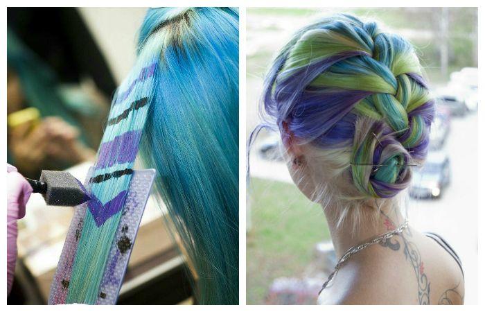 Цветное окрашивание волос, фото